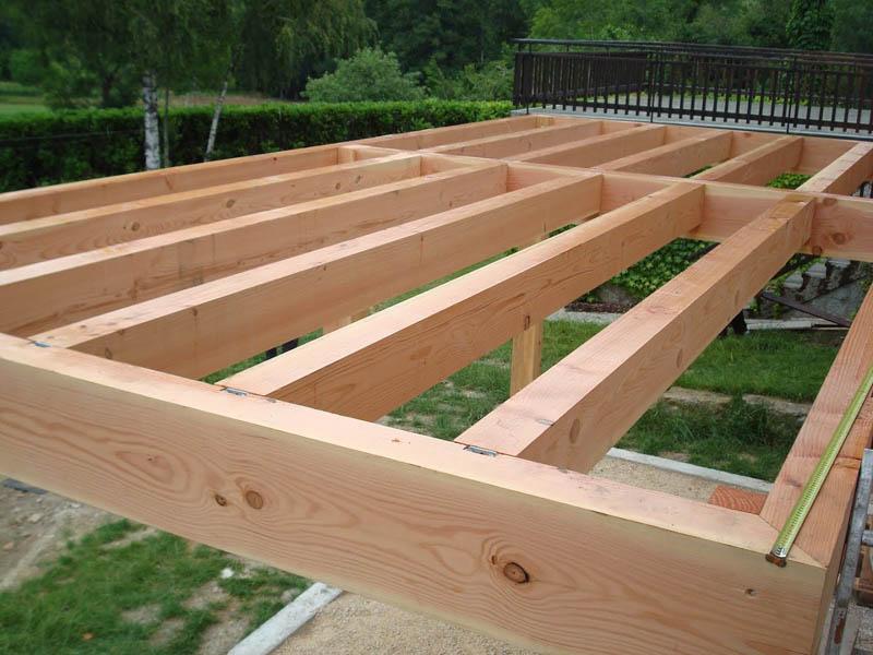 sol terrasse bois à Chindrieux
