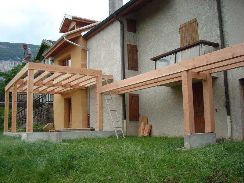structure terrasse bois à Chindrieux
