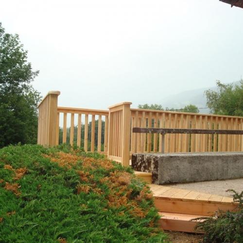 barrière terrasse bois à Chindrieux
